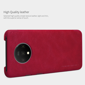 Image 3 - For Oneplus 7T Pro Flip Case NILLKIN QIN Flip Leather Cover For Oneplus 7T Case wallet Phone Case with Card Pocket