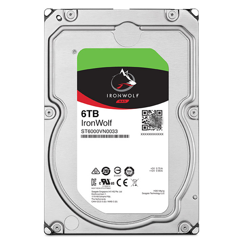 """New HDD For Seagate Brand IronWolf 6TB 3.5"""" SATA 6 Gb/s 128MB 7200RPM For Internal HDD For EnterpriseHDD For ST6000VN0033/0041 5"""