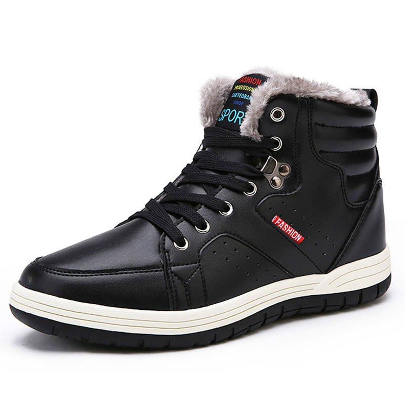 2019 Winter Men's Snow Boots For Man Waterproof Russian Winter Warm Leather Ankle Boots Men Shoes Large Size 39-48 Mens Boots