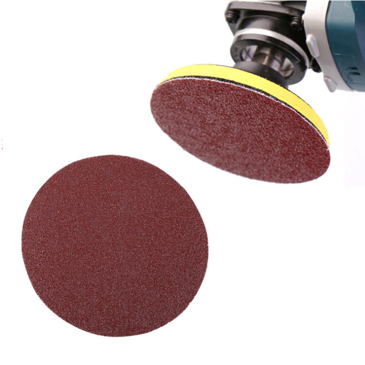 Round Plates Woven Nap SNAD Paper Disk Qi Mo Flocking Sandpaper Pieces Self-Adhesive Sandpaper Bei Rong Disc Sander Factory All
