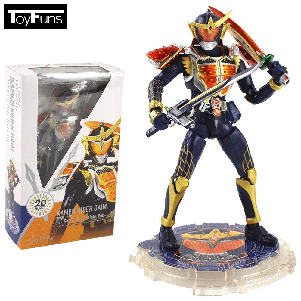 15 см аниме Kamen Rider Masked Rider Gaim Kicks Ver. Шарнир подвижный SHF ПВХ фигурка Коллекционная модель игрушки подарок Brinquedos