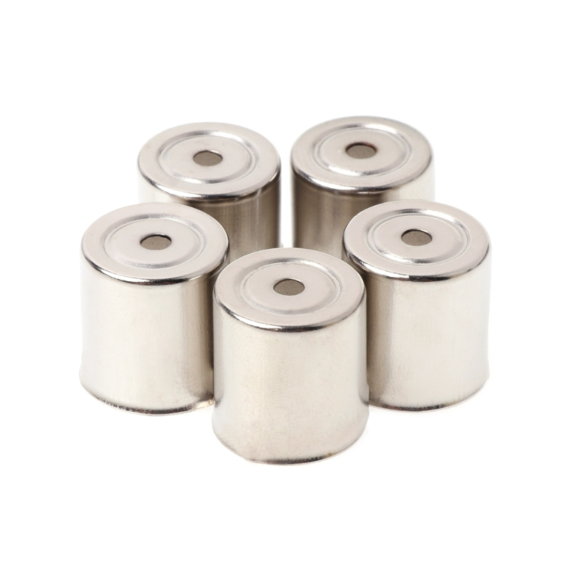 5Pcs Diametre13mm/13.5mm/14.5mm/15mm Steel Cap Microwave Oven Replacement Round Hole Magnetron Silver Tone