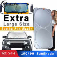 Vehemo 190*90 Car SunShade Auto Sun Visor Large Windshield Window Covers Block Protector Durable Outdoor Foldable Coche SUV