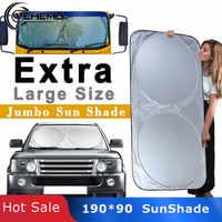 Vehemo 190*90 Auto Parasole Automatico della Visiera di Sun Grande Parabrezza Finestra Coperture Blocco di Protezione Durable Outdoor Pieghevole Coche SUV
