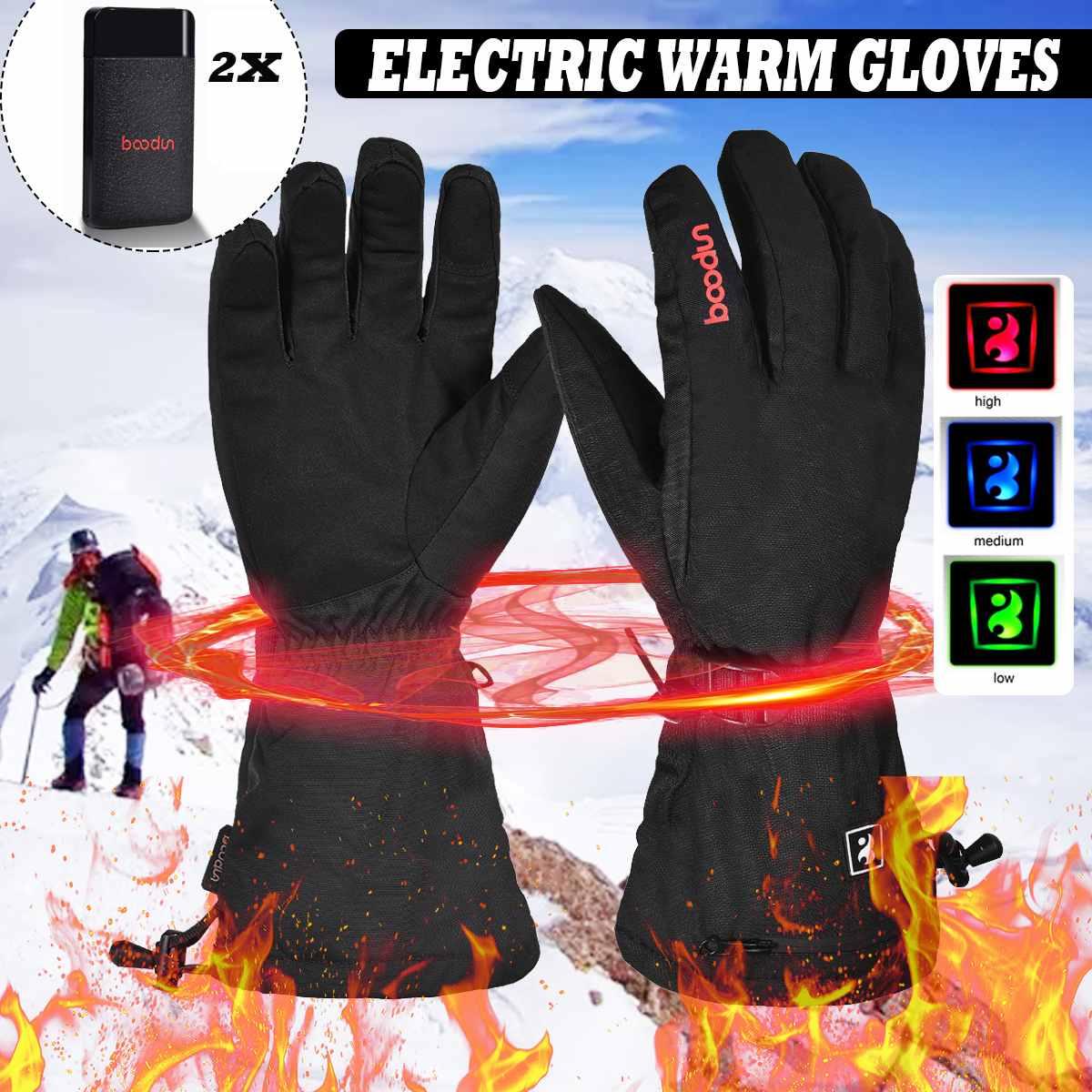 Gants de Ski imperméables thermiques électriques gants chauffants Snowboard motoneige gants hommes femmes gants d'hiver pour sonwboard