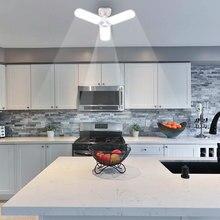 Lámpara de techo LED E27 de cuatro hojas, superluminancia, 45W, 60W, ángulo ajustable, para sala de estar, dormitorio, garaje