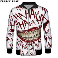 Cool Jacket Halloween Men Long Sleeve Anime Men's Sweatshirts Fashion Autumn Casual Adult Pullovers Drop Ship ZOOTOP BEAR(China)