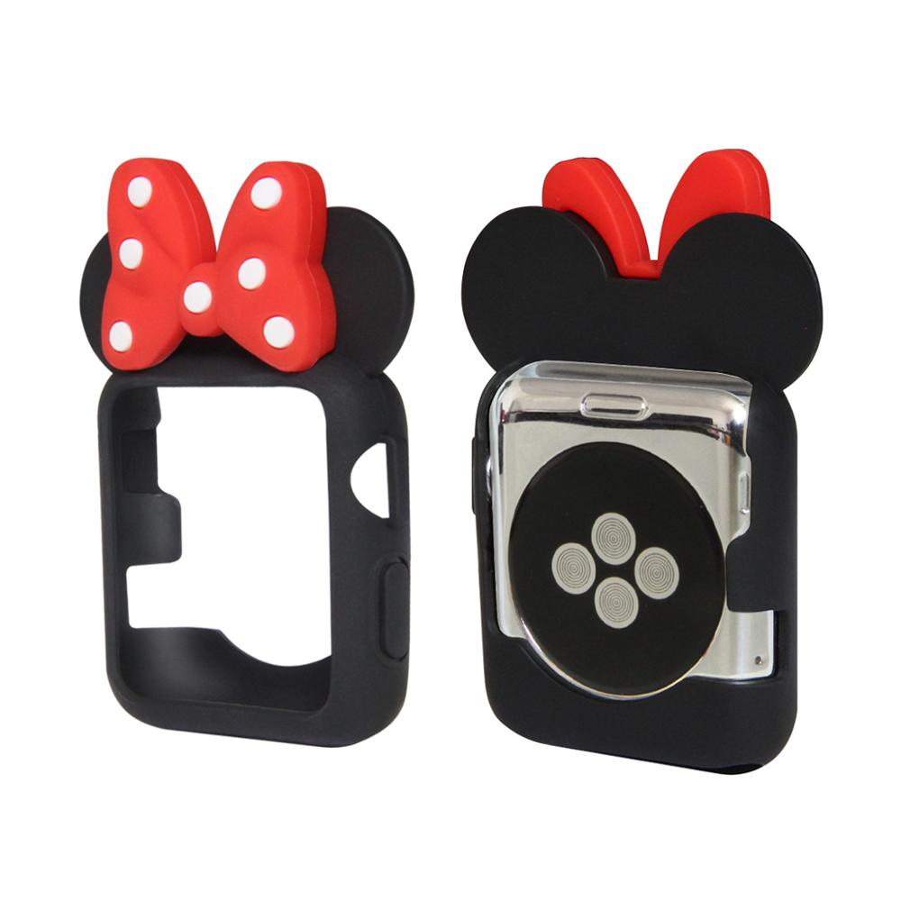 Women and men Cartoon Silicone case for <font><b>apple</b></font> <font><b>watch</b></font> series 4 <font><b>3</b></font> 2 1 Cute protective cover for iWatch 44mm <font><b>42mm</b></font> 40mm 38mm image
