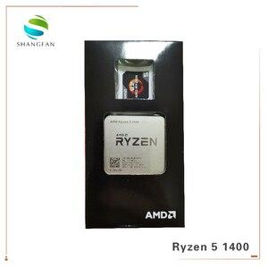 Image 3 - جديد AMD Ryzen 5 1400 R5 1400 3.2 GHz رباعية النواة معالج وحدة المعالجة المركزية YD1400BBM4KAE المقبس AM4 مع مروحة التبريد برودة