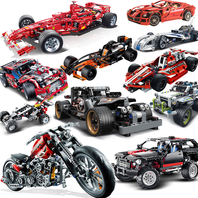 City Compatible Legoeds Technic Motorcycle Moto Motor Car Racing Motorbike Truck F1 Sets Building Blocks Models Bricks Kid Toys