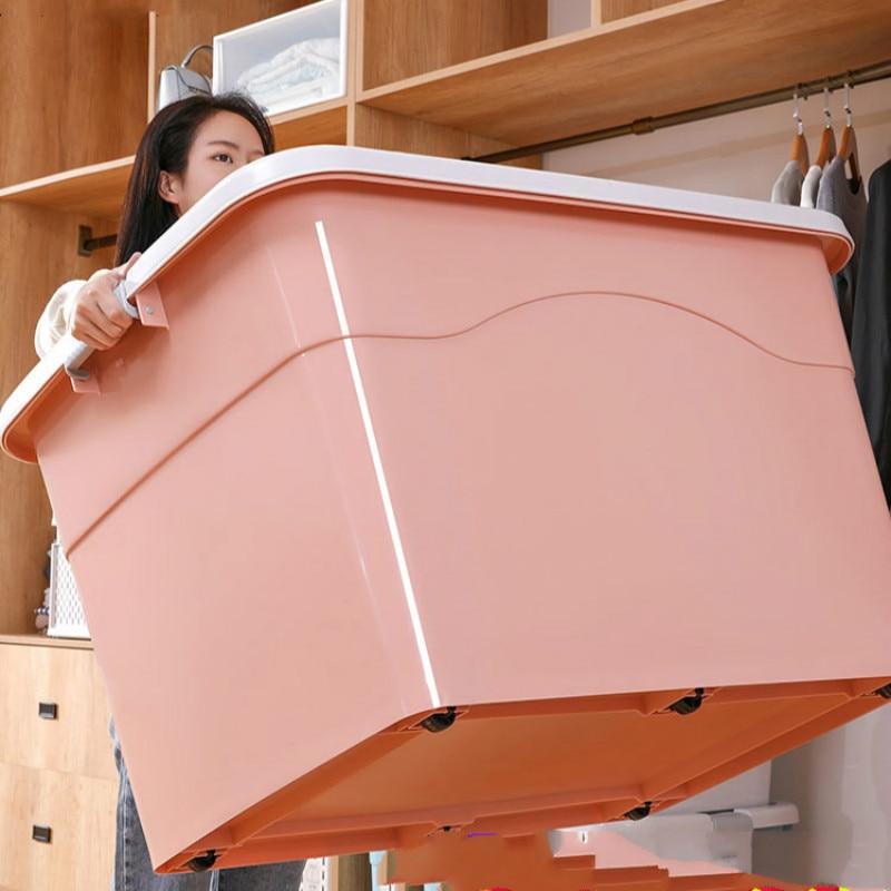 Thick Extra Large Plastic Storage Box Home Decoration Clothes Storage Box Finishing Box Super Capacity Storage Box