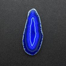 Natural stone decoration agate piece pendant color  wind bell diy wholesale
