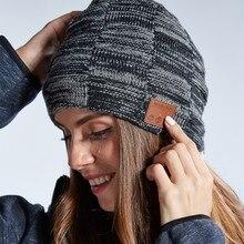 Bluetooth V5.0 стерео музыка Беспроводной наушники Fone de ouvido sem FIO Auriculares зимняя теплая Модная вязаная шапка ветронепроницаемая шапка кепки головны...