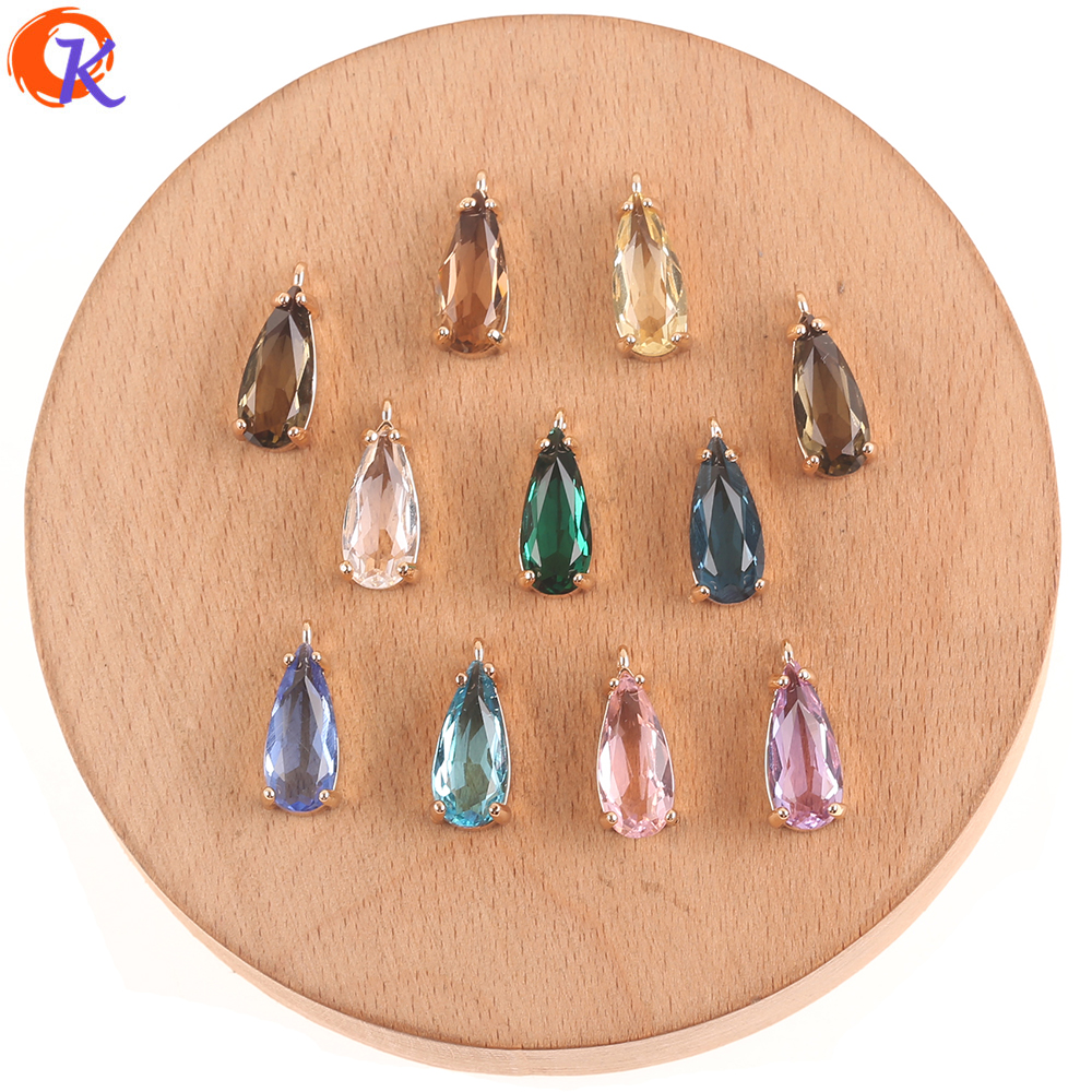 Cordial Design 50Pcs 8*18MM Jewelry Accessories/Charms Jewelry/DIY Earrings Making/Hand Made/Earring Findings/Crystal Pendant