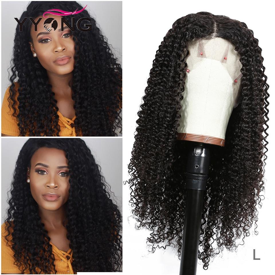 Yyong 13x4 Brazilian Kinky Curly Human Hair Wigs Lace Front Human Hair Wigs Remy Lace Front Wigs For Black Women Low Ratio 120%