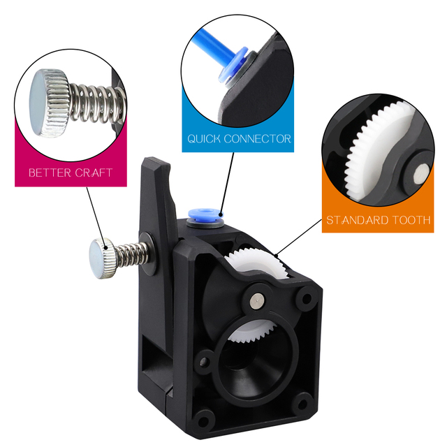 3D Printer Parts BMG Extruder Clone Dual Drive Extruder upgrade Bowden extruder 1.75mm filament for 3d printer CR10 2