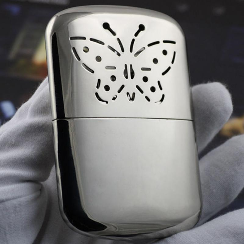 Portable Butterfly Fuel Hand Warmer Reusable Platinum Standard Pocket Handy Hand Warmers Head For Outdoor Hunting Silver 12h