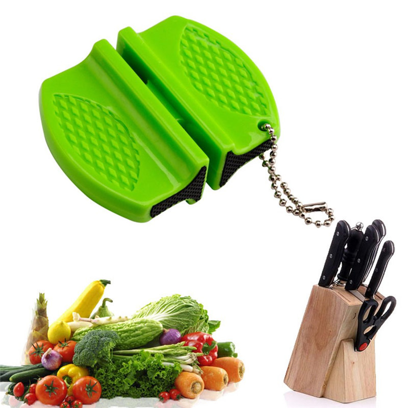 Pocket Knife Sharpener Quick-Sharpening-Tool Ceramic-Rod Non-Slip Steel Kitchen Mini title=