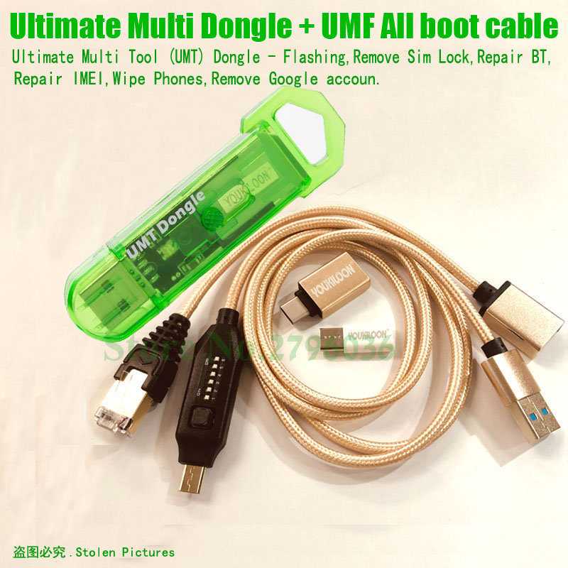 Latest Original Ultimate Multi Dongle  UMT Dongle + UMF All Boot Cable With Flashing,Remove Sim Lock,Repair BT, Repair IMEI,Ect.