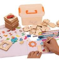 100 шт. детские игрушки для рисования картины трафарет Шаблоны раскраска доска для детей творческих каракулей Развивающие Игрушки для ранне...