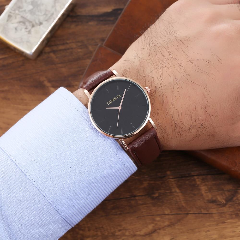 Hbacf8d032e644b448c0479f67c10cedfK Arrival Men's Watches Fashion Decorative Chronograph Clock Men Watch Sport Leather Band Wristwatch Relogio Masculino Reloj