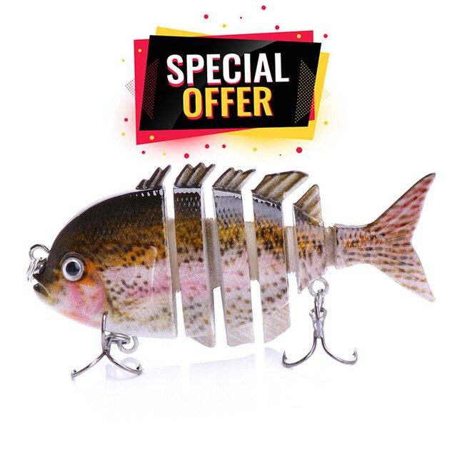 8cm 14g Lifelike 6-Segments Sinking Wobblers Fishing Lure