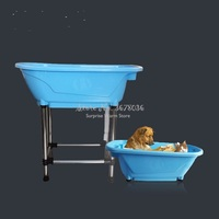 Pet Bathtub Large Pet Products non slip Bath Tub for Dog and Cat not bend over with high Stainless steel legs Easy install