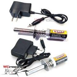 HSP gaz RC silnik Nitro glow 1.2V 1800MA 3600MA akumulator świeca żarowa rozrusznik zapalnik ładowarka ac dla RC 1/8 1/10 samochód F122 w Części i akcesoria od Zabawki i hobby na