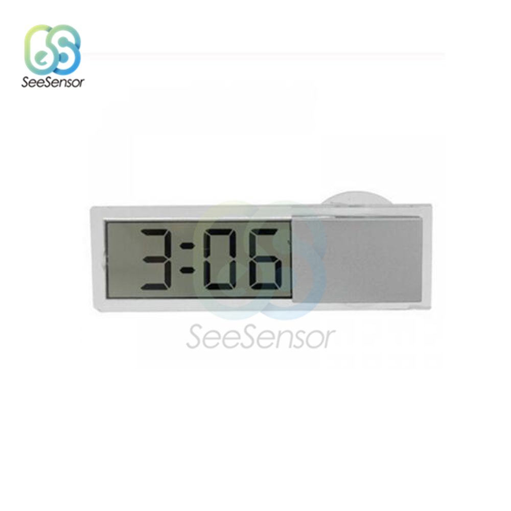 Car Electronic Clock Home Decor Liquid Crystal Display Desk Table Clocks LCD Car Timer Digital Clock With Suction Cup