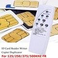 RFID ID карта копировальный аппарат 125/250/375/500 кГц CR66 RFID программный сканер считыватель писатель Дубликатор duplo и светодиодный индикатор чутко