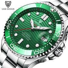 2021 nowe sportowe męskie zegarki mechaniczne LIGE Top marka luksusowy zegarek automatyczny mężczyźni 100 wodoodporny data zegar człowiek nurkowanie zegarek