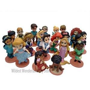 Disney Princess Action Figures Toys Rapunzel Snow Cinderella White Snow Fairy Rapunzel Doll Decoration Children Gift