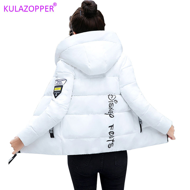Winter Parkas Women 2020 jesień Plus rozmiar 5XL kurtka gruby kaptur ciepła krótka odzież wierzchnia kobieta cienka bawełna wyściełana top prosty ZH084
