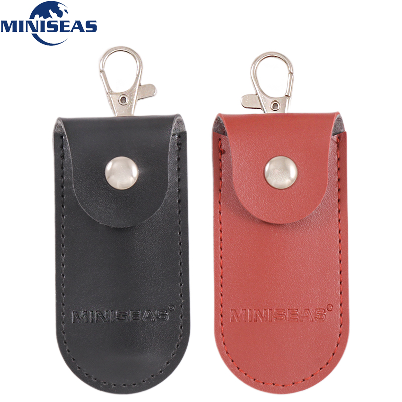 Miniseas Bag Case Protective Leather Key Ring For Usb Flash Drive Pendrive Memory Stick OTG