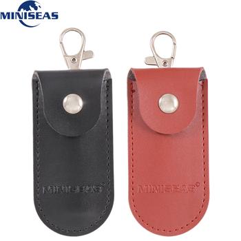Miniseas torba case skóra ochronna brelok na pamięć usb pendrive pendrive OTG tanie i dobre opinie PU Skóra for usb flash drive better than kingstick