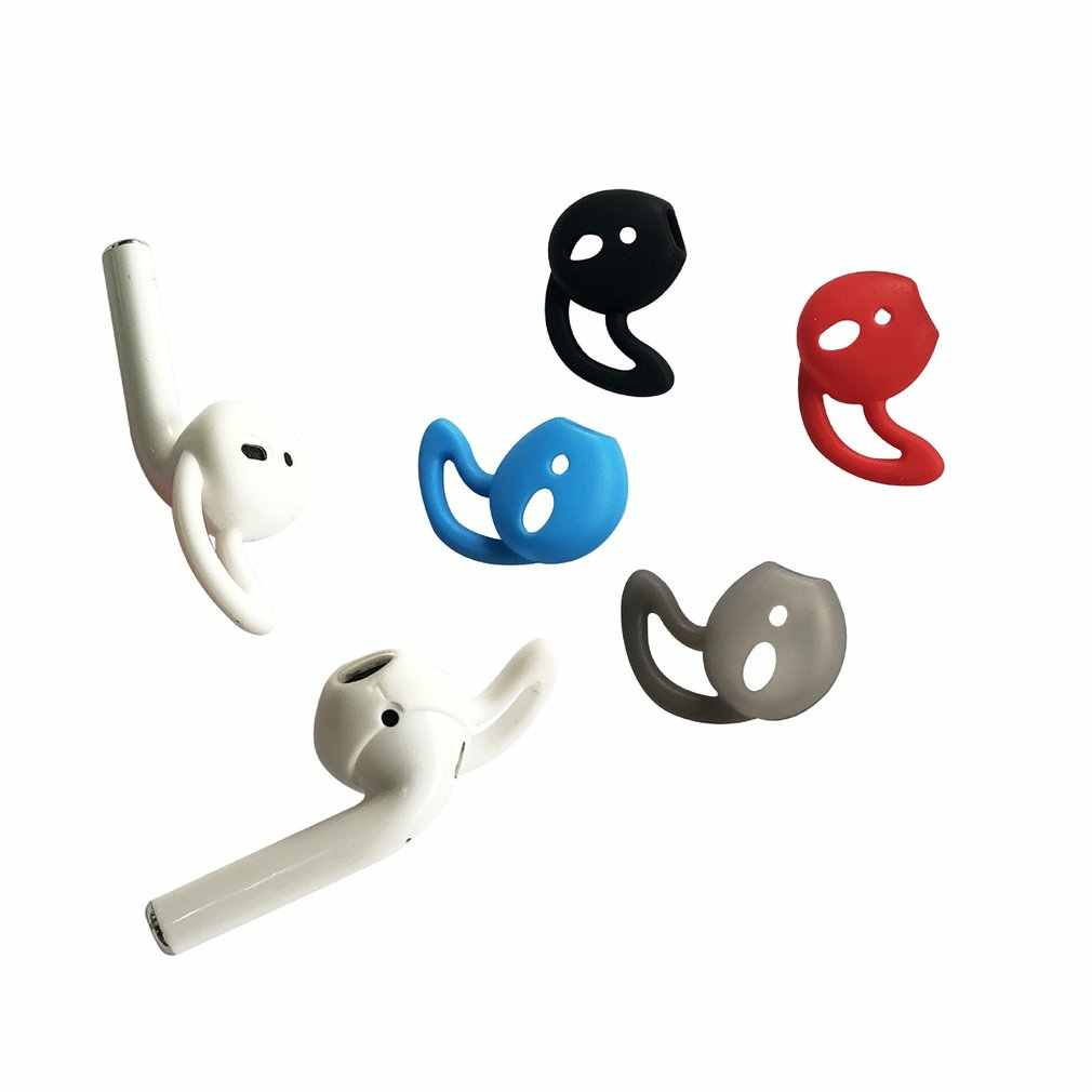 1 Pair/SET Anti-Slip Soft Silicone Earphone Cover Tips Hook For Airpods Anti-Slip Soft Silicone Sleeve For IPhone Headphone