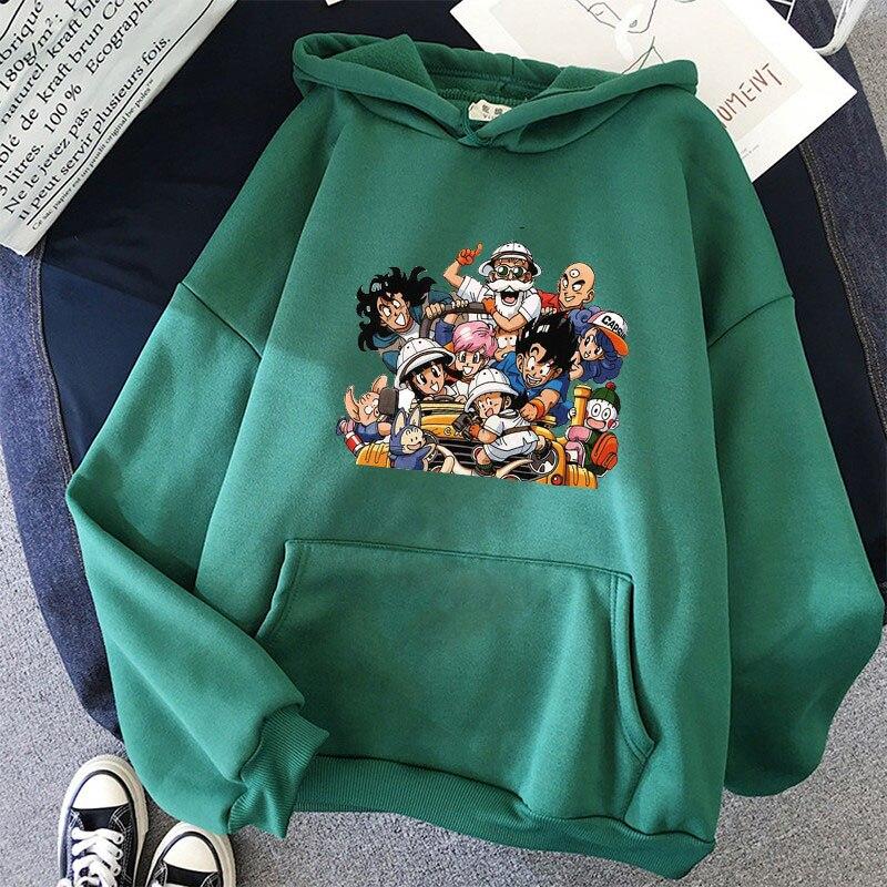 Japanese Anime Printed Hoodies 2021 Spring Autumn Long Sleeve Hoodie Women Cartoon Graphic Streetwear Sweatshirts Female Tops 19