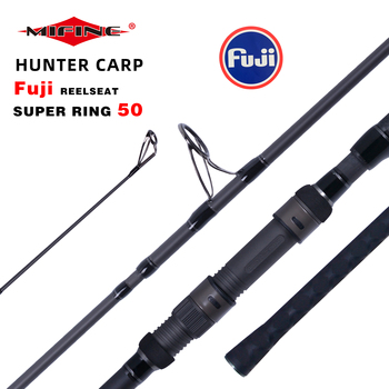 MIFINE HUNTER carp fishing rod T800 Carbon Fiber Fuji Spinning Rod pesca 3.75lb power 40-160g 3.96m Hard Pole Surf Rod