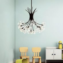 G4 Led Lamp Modern Crystal Chandelier Design Lustre Living Room Kitchen Foyer Light Fixtures Decor Home Lighting Black Metal