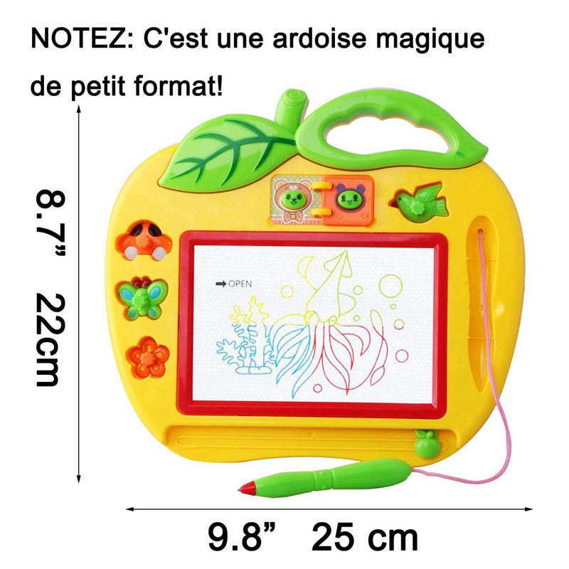 Magic Slate Color Small Format with Stamps, Toy for Girl and Boy 18 Months, Mini Games for Babies and Children 2 and 3 Years - C