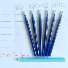 Recharge magique effaçable à encre bleue de 0.7mm, stylo à Friction, fournitures de papeterie scolaires et de bureau pour étudiants