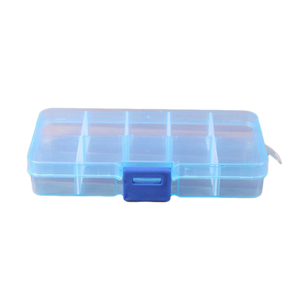 10 Grids Plastic Storage Box for Small Component Jewelry Tool Box Bead Pills Organizer Nail Art Tip Case on AliExpress