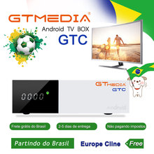 [Brazil]GTmedia GTC Android 6.0 TV BOX DVB-T2/S2/Cable/ISDBT Amlogic S905D satellite receiver iptv m3u cccam portugal channel