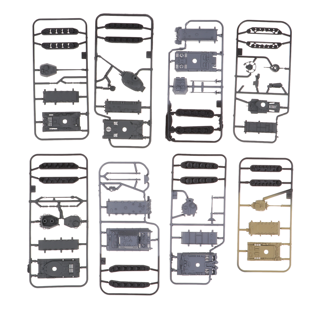 8 pièces enfants réservoir moderne 1144 échelle jouets modèle réservoir pour passe-temps à collectionner/bricolage Puzzles Kits/Design fin