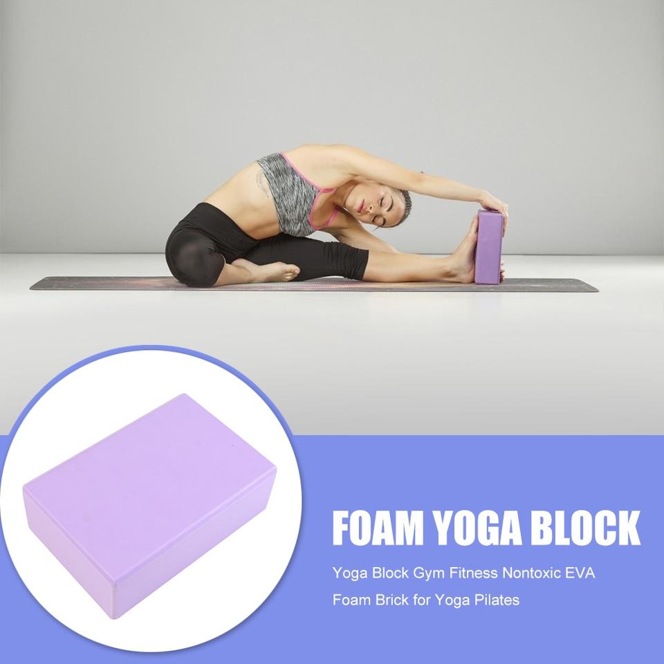 2 Pcs Double Color Sports Workout Indoor Exercise Pilates Yoga Block Brick EVA
