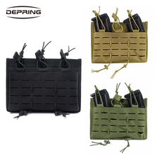 Tactical Molle Magazine Pouch Open Top Mag Holder Triple Mag Pouch Hunting Shooting Holster Pistol Bag Molle Pouch цены онлайн