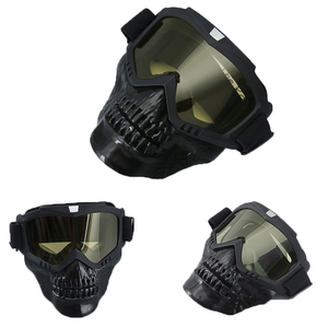 Image 2 - חיצוני טקטי ציד מסכת Full Face מגן ירי Airsoft מסכה עם משקפי עבור פיינטבול צבאי Combat גולגולת מסכות