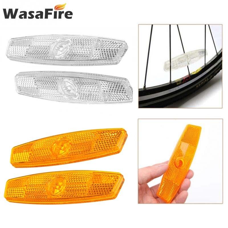 Пара велосипедных колес безопасности спиц отражатель светоотражающий монтажный зажим Предупреждение ющий велосипедный светильник Аксессуары для велосипеда Велосипедная фара      АлиЭкспресс