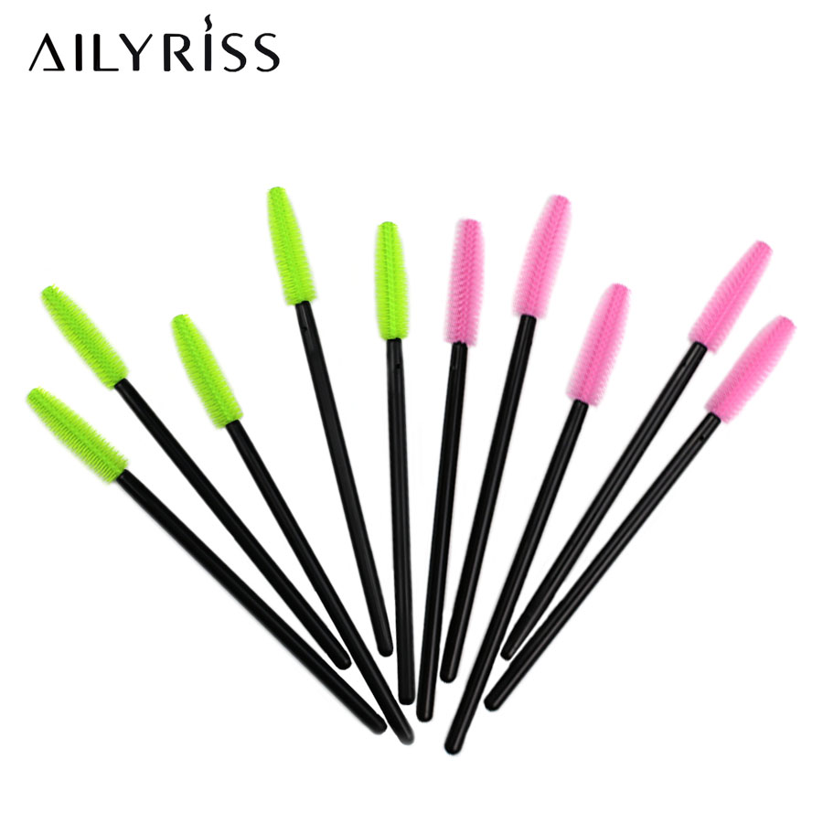 25/50pcs Silicone Disposable Lashes Brush Comb Mascara Wands For Eyelashes Extension Individual Applicator Women Makeup Tool