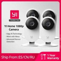 YI 1080p Wifi Home Camera 1/2/4pcs videocamere intelligenti con Montion rileva telecamera Ip protezione di sicurezza Mini videocamera Pet Cat Cam